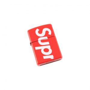 "Supreme Zippo lighter """"SS 18"""" 联名红色打火机 - SU3751 ""SS"