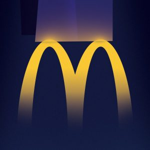 M lights up the night - 麦当劳创意广告:24小时营业