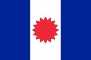 法国殖民地旗帜《Sip Song Chau Tai,法属印度支那(1948-1955)的 旗帜》