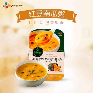 韩国希杰bibigo早餐方便速食粥即食盒装南瓜红豆粥280g