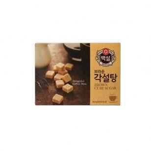 韩国希杰CJ白雪进口咖啡方糖块咖啡调糖伴侣黄糖赤砂糖