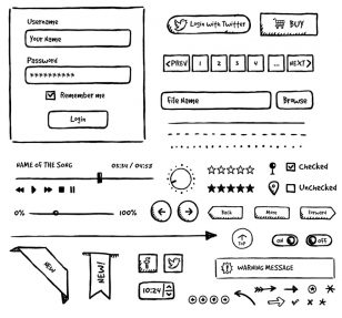 Jolly UI Free – free hand-drawn vector UI elements