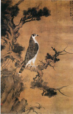 鹰桧图 张舜咨 雪界翁