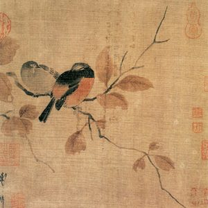 秋叶鸲莺图 佚名