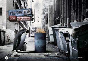 无家可归  世界自然基金会 | World Wildlife Fund (WWF) | 灵智 | Euro RSCG | Homeless Penguin
