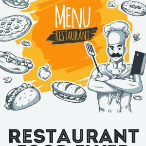 意大利餐厅菜单PSD模板设计