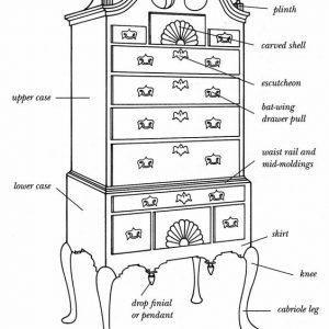 家具结构绘画