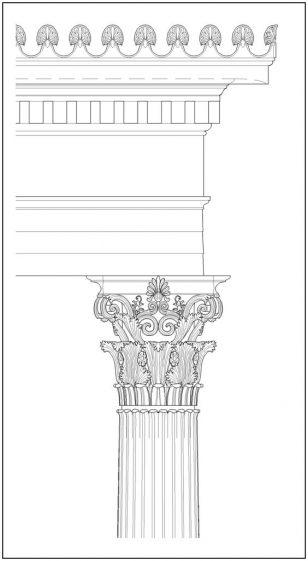 罗马柱绘画
