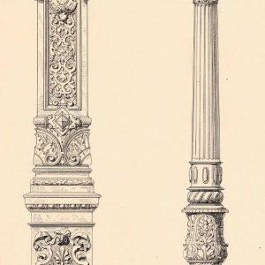 欧式柱子绘画