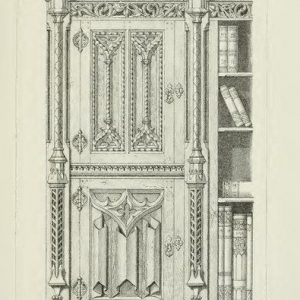 法式木门绘画