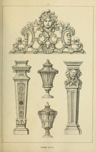 柱子雕花绘画