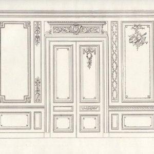 法式护墙板绘画