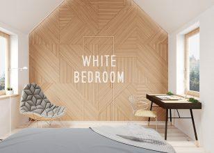 White bedroom 3ds Max   Corona render   Adobe Photoshop