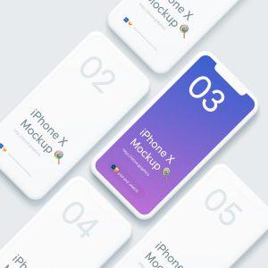 UI效果展示模板 iPhone X Mockups .psd .sketch