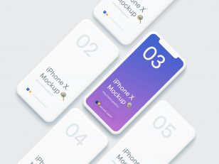 UI效果展示模板 iPhone X Mockups .psd .sketch