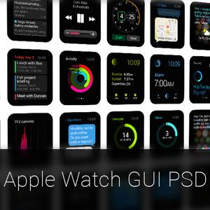 Apple Watch GUI PSD 下载
