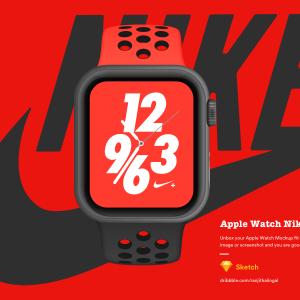 Apple Watch样机 Nike+ sketch 素材下载