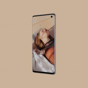Samsung Galaxy S10 透视效果 Mockup .psd