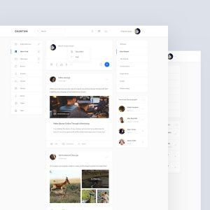 social 网站首页模板 .sketch & .psd素材下载