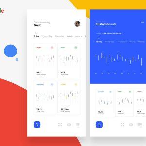 Google analytics app concept .psd下载