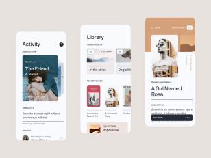 书店app 活动、图书页面ui .fig素材下载