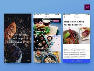 饮食app ui XD素材下载
