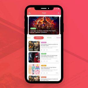 Newsfeed App首页 UI .psd下载