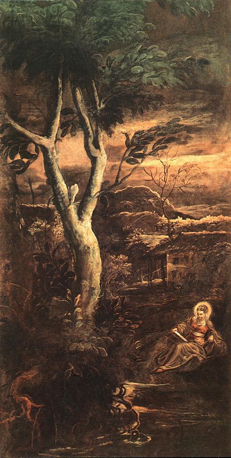 意大利画家-丁托列托(Tintoretto)St Mary Magdalen