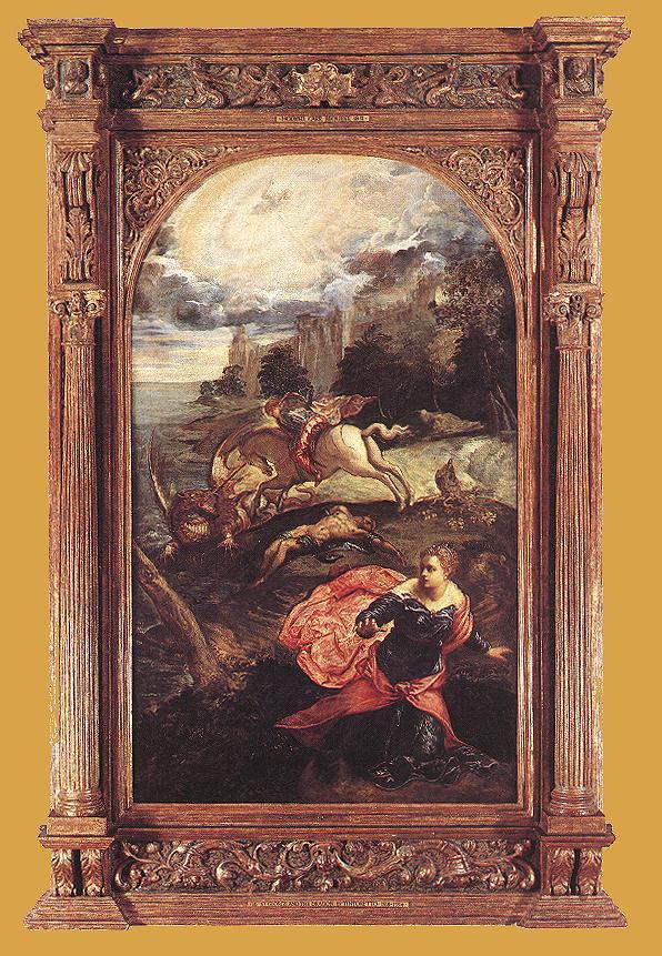 意大利画家-丁托列托(Tintoretto)St. George and the Dragon