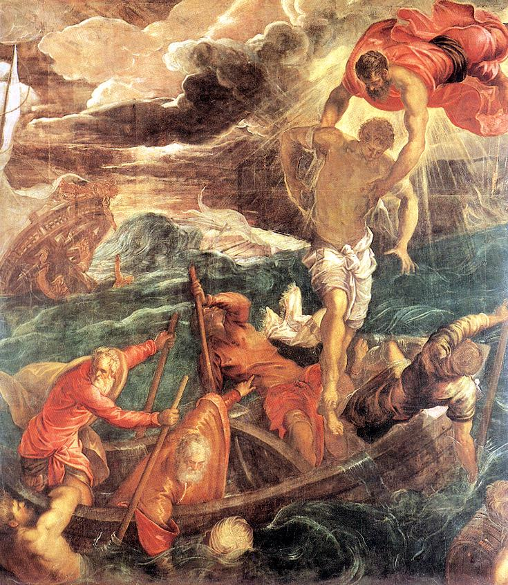 意大利画家-丁托列托(Tintoretto)St. Mark Saving a Saracen from Shipwreck