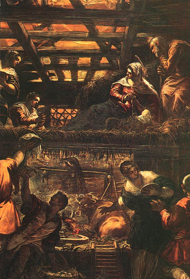 意大利画家-丁托列托(Tintoretto)The Adoration of the Shepherds