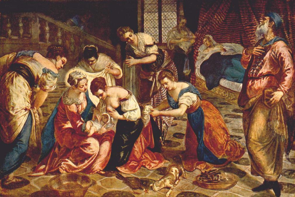 意大利画家-丁托列托(Tintoretto)The Birth of St. John the Baptist