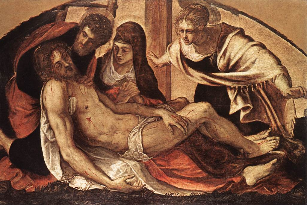 意大利画家-丁托列托(Tintoretto)The Deposition