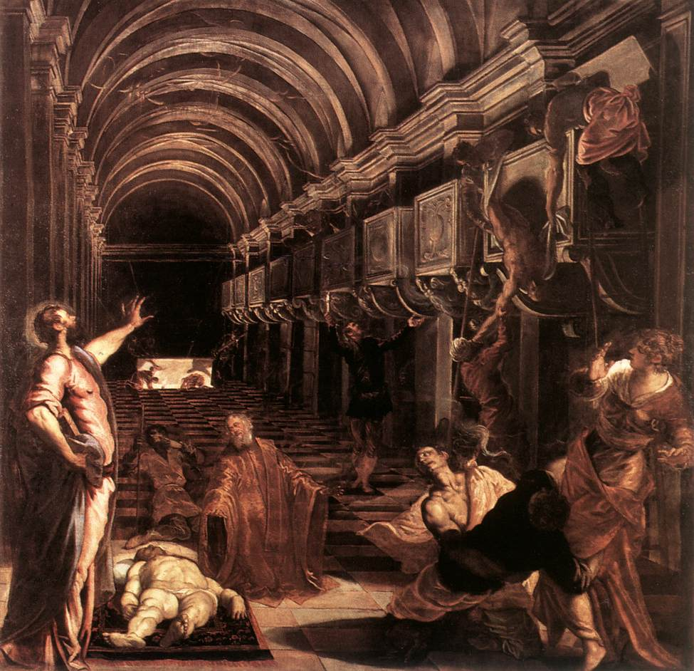 意大利画家-丁托列托(Tintoretto)The Discovery of St Mark's Body