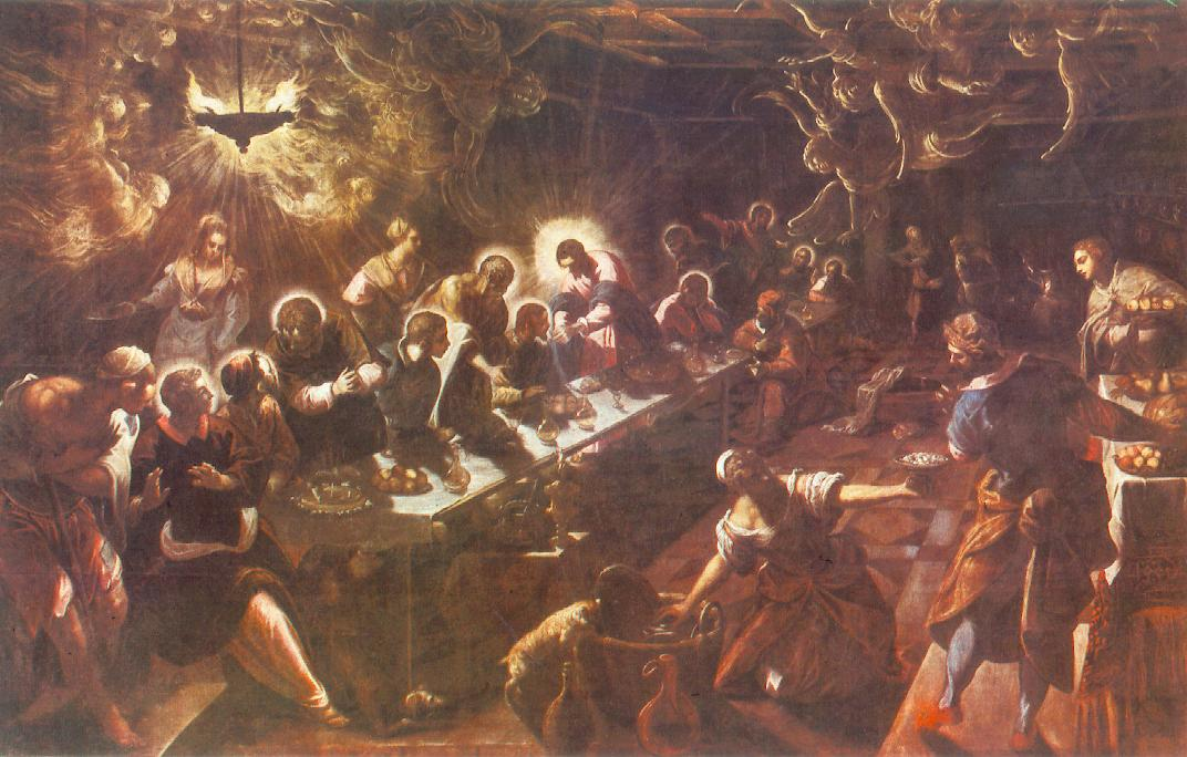 意大利画家-丁托列托(Tintoretto)The Last Supper 1