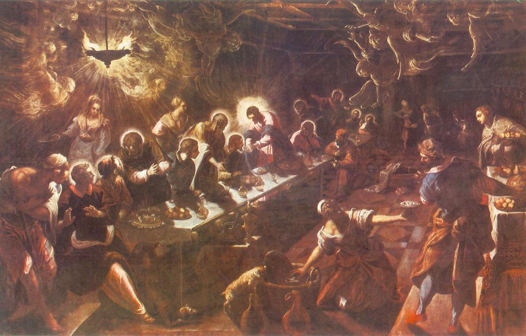 意大利画家-丁托列托(Tintoretto)The Last Supper 1