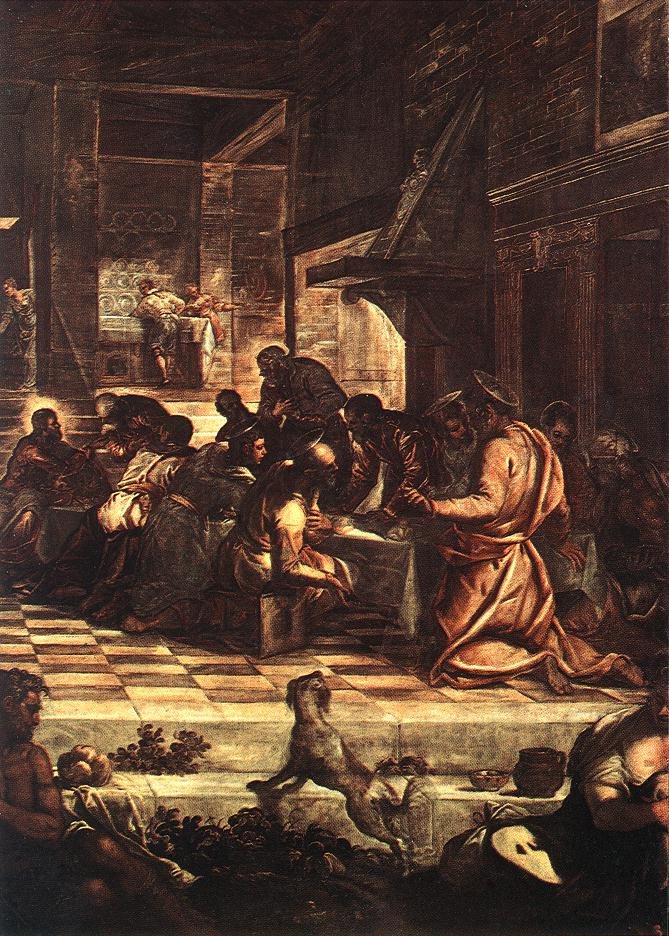 意大利画家-丁托列托(Tintoretto)The Last Supper 2