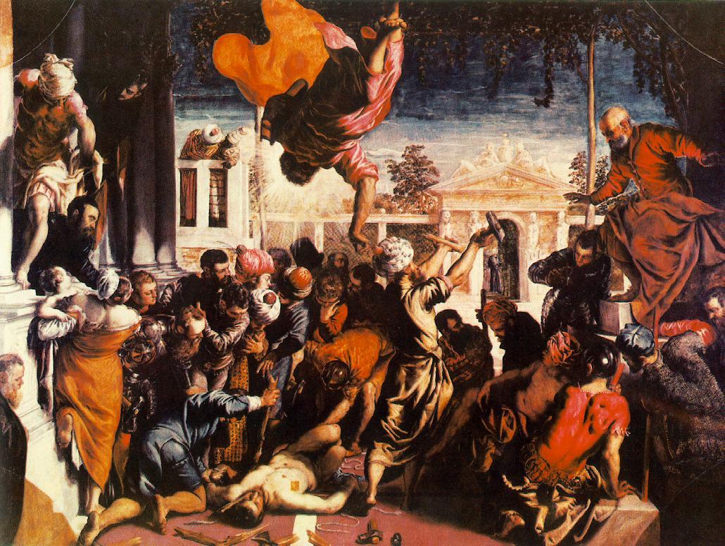 意大利画家-丁托列托(Tintoretto)The Miracle of St Mark Freeing the Slave