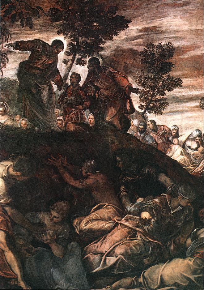 意大利画家-丁托列托(Tintoretto)The Miracle of the Loaves and Fishes
