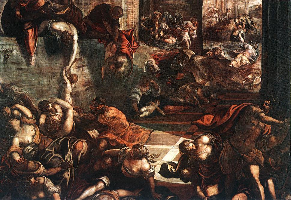 意大利画家-丁托列托(Tintoretto)The Slaughter of the Innocents