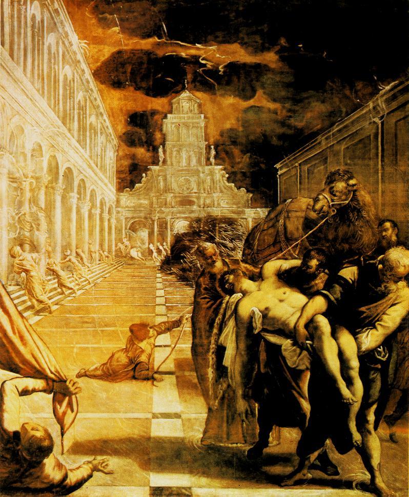 意大利画家-丁托列托(Tintoretto)The Stealing of the Dead Body of St Mark