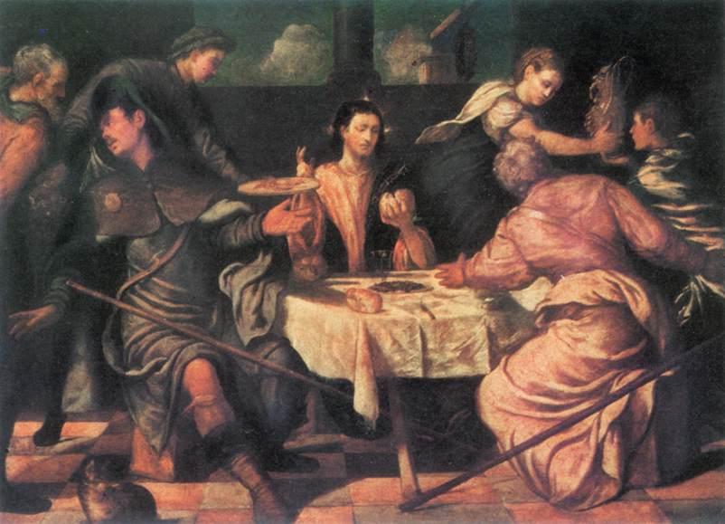 意大利画家-丁托列托(Tintoretto)The Supper at Emmaus