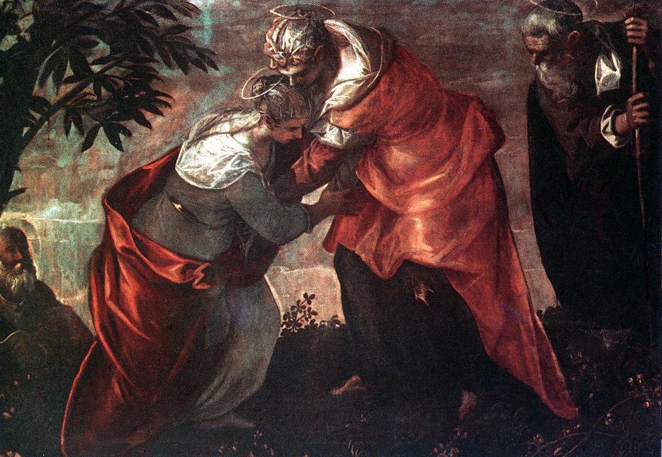 意大利画家-丁托列托(Tintoretto)The Visitation