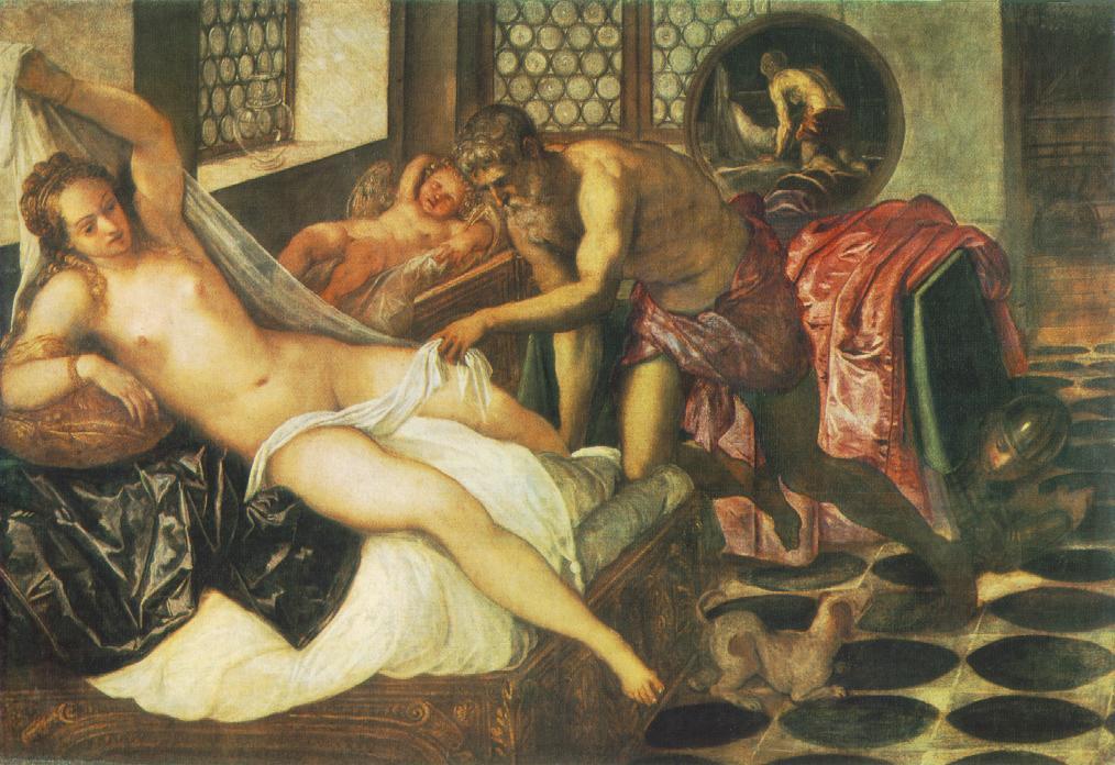 意大利画家-丁托列托(Tintoretto)Vulcanus Takes Mars and Venus Unawares