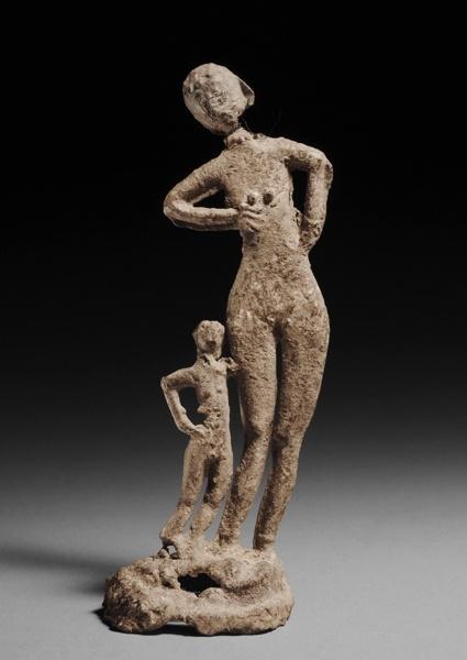 Halstatt铅奉献的一个母亲和儿童