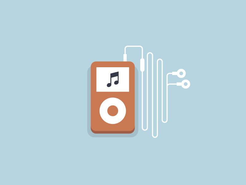扁平化的iPod