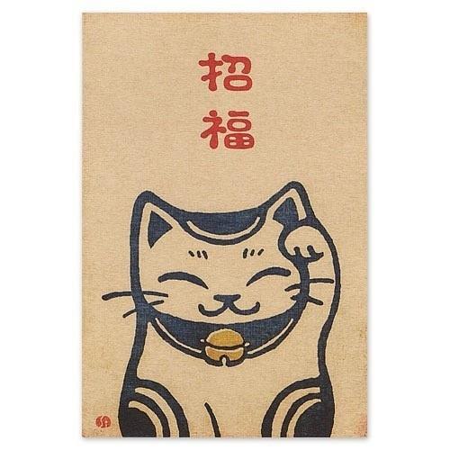日式插画明信片设计
