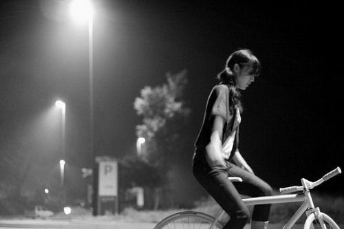 小清新单车街拍