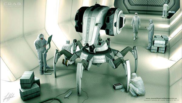 C.R.A.B. ROBOT - concept design (3D)