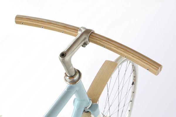 Curved wood handlebar